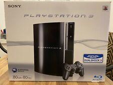 Sony PlayStation 3 80 GB Schwarz PS + 2 Originale Controller + OVP +6 Spiele