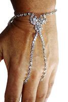 Slave Love Harems Finger Bracelet Crystal Rhinestone Belly Dance Exotic