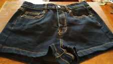 Forever 21 Blue Denim Jean Mini Short Shorts, Size 25.