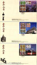 Hong Kong Classics 7, 8, 9 S/S FDC**