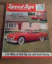 Vintage Speed Age Magazine November 1953 Issue - AAA Big Car Stock Auto Racing