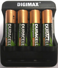 U4 SMART FAST LED AA/AAA CHARGER 4 x AA  DURACELL RECHARGEABLE BATTERIES 1300mAh