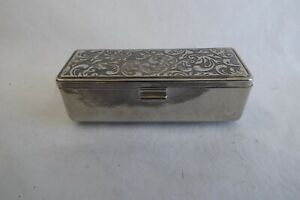 silver plated lipstick holder