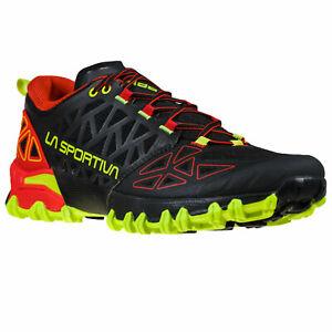 La Sportiva bushido II scarpa uomo mountain trail running nero black goji