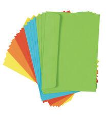 200 (10x 20Stk) farbige Briefumschläge Din C6 5 verschiedene Farben