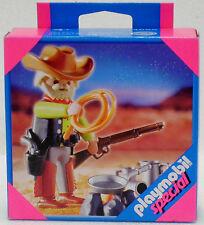 Cowboy con fuego de campamento Playmobil Special 4665 V.' 06 a Western longhorn OVP nuevo
