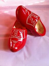 Dutch Wooden Clogs  Red / White decor size 22-23 =14 cm many sizes available