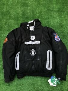 Vintage NWT Deadstock Triple Fat Goode Raiders Jacket 90s Raider Down Jacket NFL