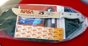 "Case XX USA M-1 mint on plaque 1983 Moon Landing Astronaut 17"" knife 25th anniv."