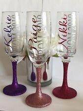 Personalised Champagne Flute Glass Prom Keepsake Gift