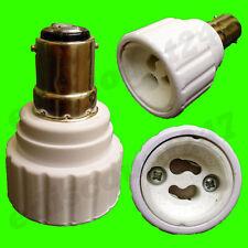HIGH QUALITY SBC B15 to GU10 Adaptor Socket LED Lamp Holder Converter UK STOCK.