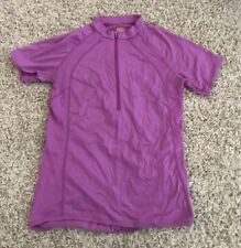 ICEBREAKER GT LIGHTWEIGHT PINK MERINO WOOL CYCLING JERSEY SHIRT M Medium Top