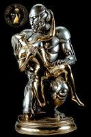 Bronze Skulptur Figur Robo Lover Statue Akt Erotik Robot Mediumsize Gold Silber