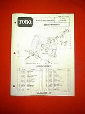 TORO 521 TWO STAGE SNOWTHROWER SNOWBLOWER MODEL 38052-4000001 & UP PARTS MANUAL