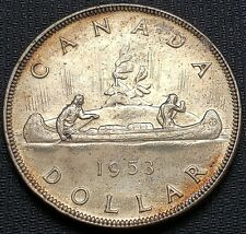 1953 Canada Silver $1 Dollar Coin - Great Condition - Minor Clip