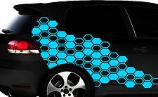 Hexagon Pixel Cyber Camouflage XXL Set Auto Aufkleber Sticker Tuning Wandtattoo0