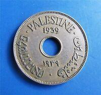 Israel Palestine British Mandate 10 Mils 1939 Coin XF