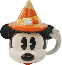 More details for shop disney halloween witch minnie mouse 3d face dolomite coffee mug cup hat lid