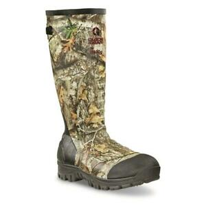 New 17 in Men's Ankle Fit Insulated Rubber Boots, 2,400-gram Mossy Oak Realtree