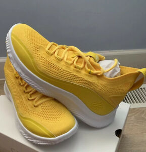 Under Armour Curry 8 Smooth Butter Flow Yellow Shoes Men's Size 9