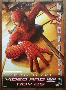 SPIDERMAN  ORIGINAL 2002 UK MOVIE POSTER video store release TOBY MAGUIRE