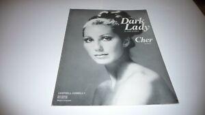 CHER DARK LADY ORIGINAL UK 1973 SHEET MUSIC