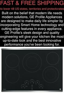"""FREE SHIPPING New GE Profile 30"""" 3100-Watt PowerBoil Stainless Electric Cooktop"""