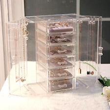 New 6 Drawers Organiser Acrylic Makeup Drawer Holder Jewellery Case Box Storage