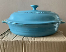 LE Creuset Oval Stoneware Casserole Dish with Lid -30cm (Teal)