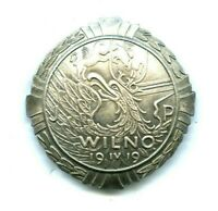 WW2 Badge Of Capture Of Vilnius Lithuania 19 IV 19 Poland Polish Old Copy