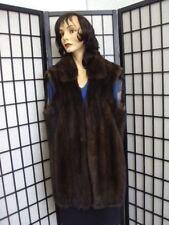 BRAND NEW NATURAL BROWN CANADIAN SABLE FUR VEST JACKET COAT WOMEN WOMAN