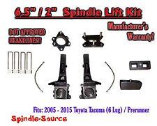 """2005 - 2016 Toyota Tacoma 6 Lug / Prerunner 6.5"""" / 2"""" Lift Kit Spindles, Brakes"""