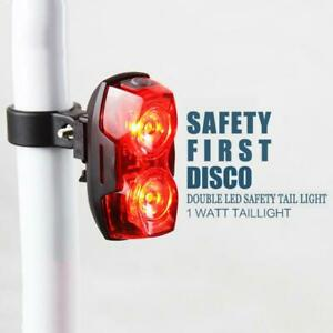 Bicycle Safety Tail Light Rear Cycling Lamp Ultra Bright Bike Two LED Waterproof