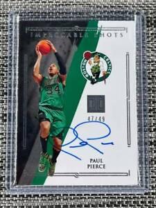 2020-21 Impeccable Basketball Paul Pierce Impeccable Shots Auto #d 47/49 Celtics