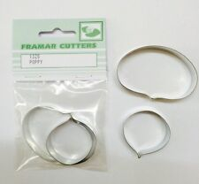 Cake Decorating Metal 132S Poppy by Framar Cutters