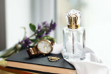 50ml Empty Glass Perfume Spray Bottle Atomizer Refillable Crystal Cap Gold