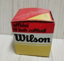 wilson vintage softball,1970s A9001 jet style.new in the box.