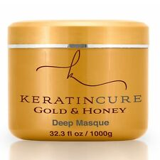Keratin Cure Gold & Honey Deep Masque Promotes Growth Repairs Hair 1000g 32oz
