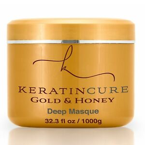 Keratin Cure Gold & Honey Deep Masque Promotes Growth Repairs Hair 1000g 32oz