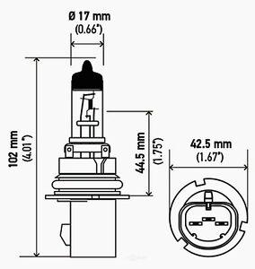 Headlight Bulb-XLS Hella 9007TB