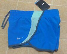 New Nike Girls Tempo Dri Fit All Sports Blue Gray Shorts Sz M  #555896
