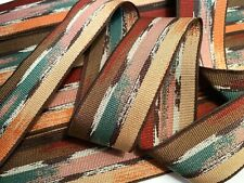 """Vintage Grosgrain 1950s Painted Desert 1.5""""  Rayon Cotton Ribbon 1y Made France"""
