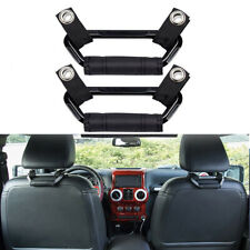 2Pcs Backseat Passengers Headrest Grip Handle for Jeep Truck Sports Car Black