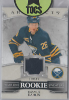 """Rasmus Dahlin 2019-20 Artifacts """"Year One Rookie Sweaters"""" Jersey Card Sabres"""