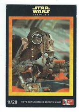 KFC Star Wars Episode I The Phantom Menace Card 11/20 Sebulba Good- Condition