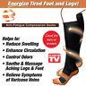 Pair Unisex Copper Infused Anti-Fatigue Compression Socks Varicose Vein Stocking
