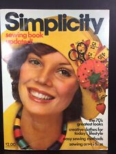 Simplicity Sewing Book Updated 1975 The 70's Look Vintage Illustrated
