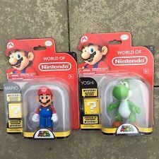 Mario and Yoshi Figures World of Nintendo Super Mario Jakks Accessory New Sealed