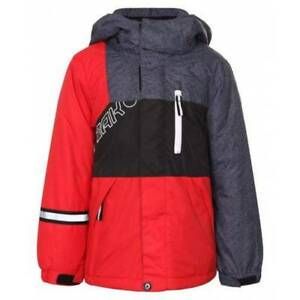 ICEPEAK JACKOB JUNIOR SKI JACKET EU 92 UK AGE 2  RED / BLACK / GREY BOYS