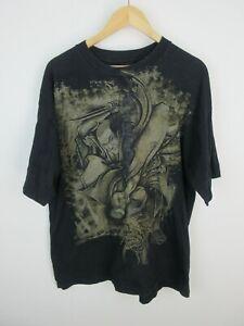 Vintage Japanese Samuari Warriors Fifth Sun Mens T Shirt Size XL Crew Neck Rare